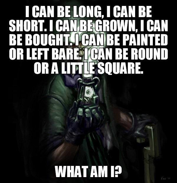 A tricky riddle