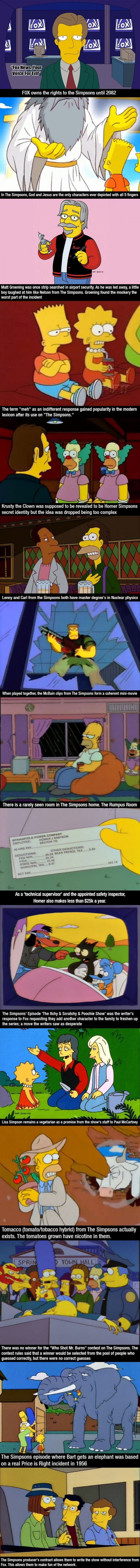 Simpsons facts
