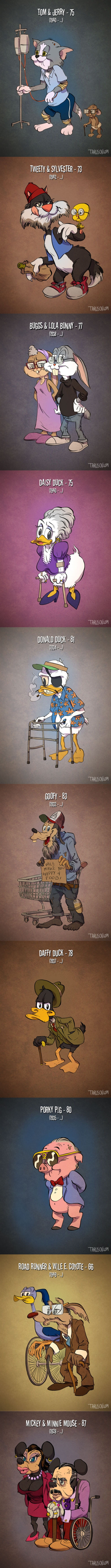 Cartoon characters get old