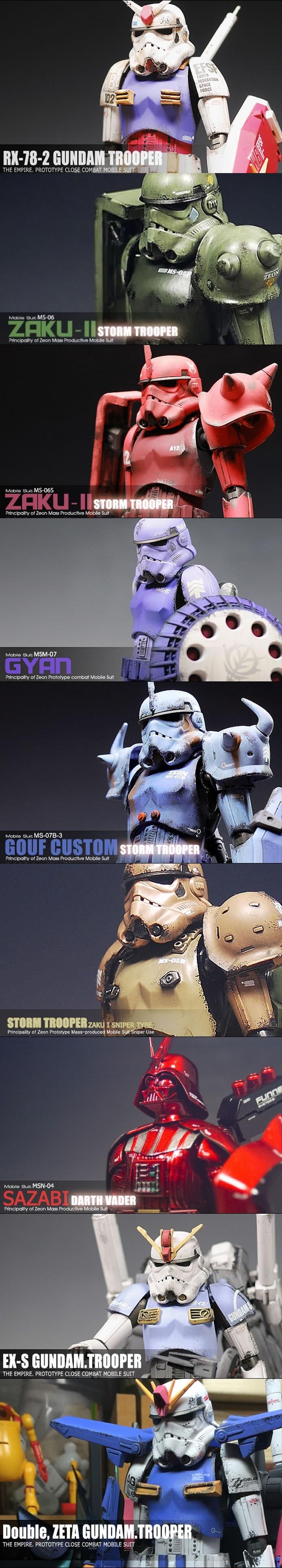 Star wars gundam models