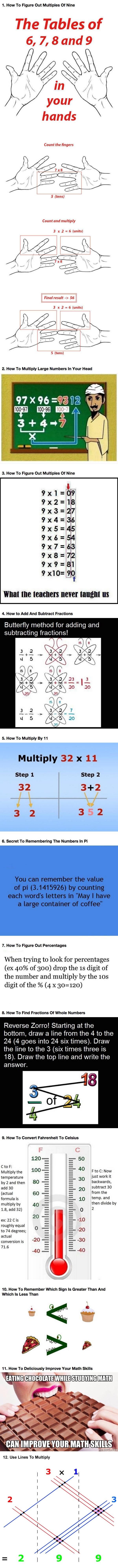 Simple math tricks