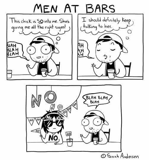 Men at bars
