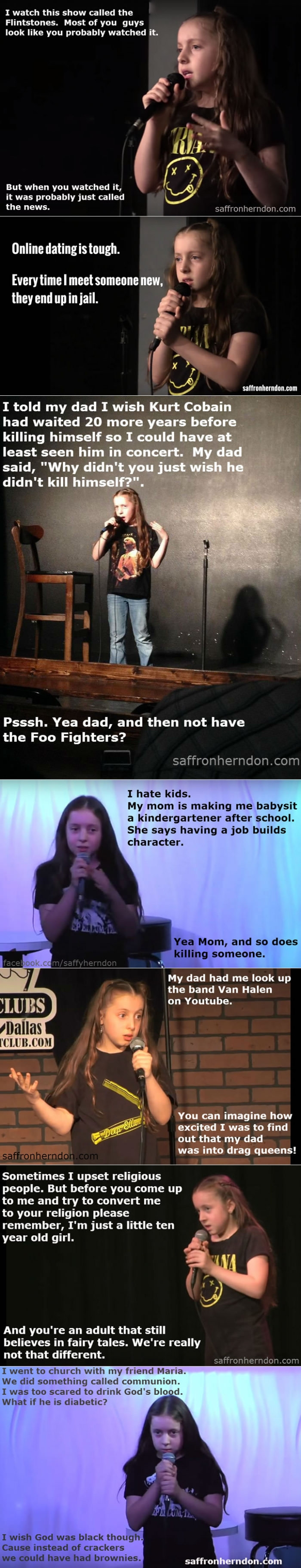 10 year old comedian girl