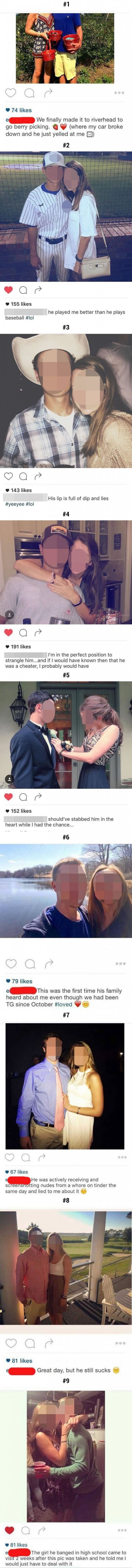 Girl changes insta captions after she finds out her bf is cheating on her