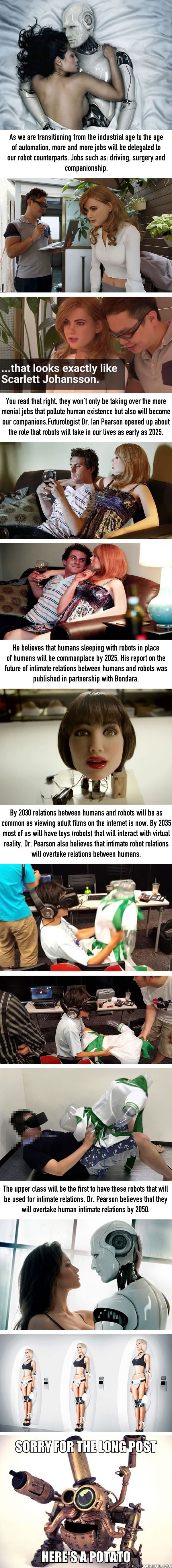 Pleasure robots are being made to replace humans by 2025