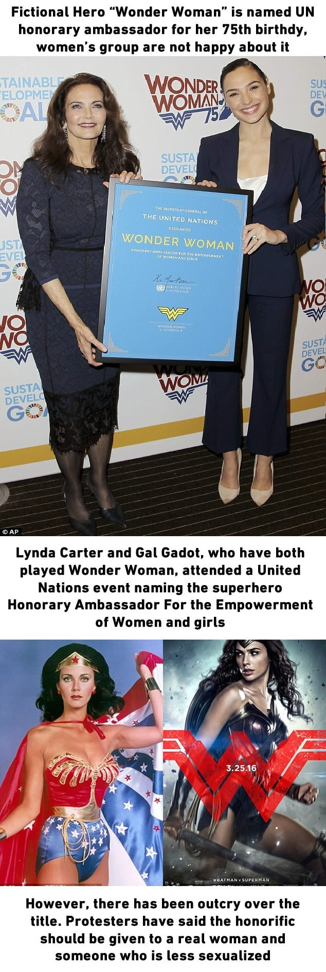 Wonder Woman named UN Honorary Ambassador