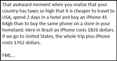 F**k import taxes!