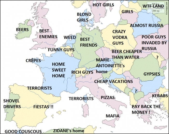How French people see their neighbours