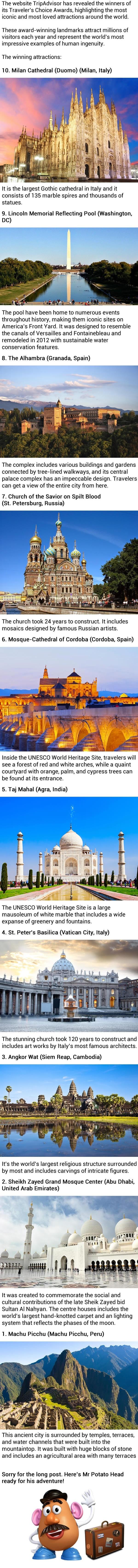 Most beloved landmarks around the world