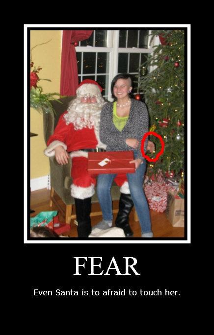Scared santa