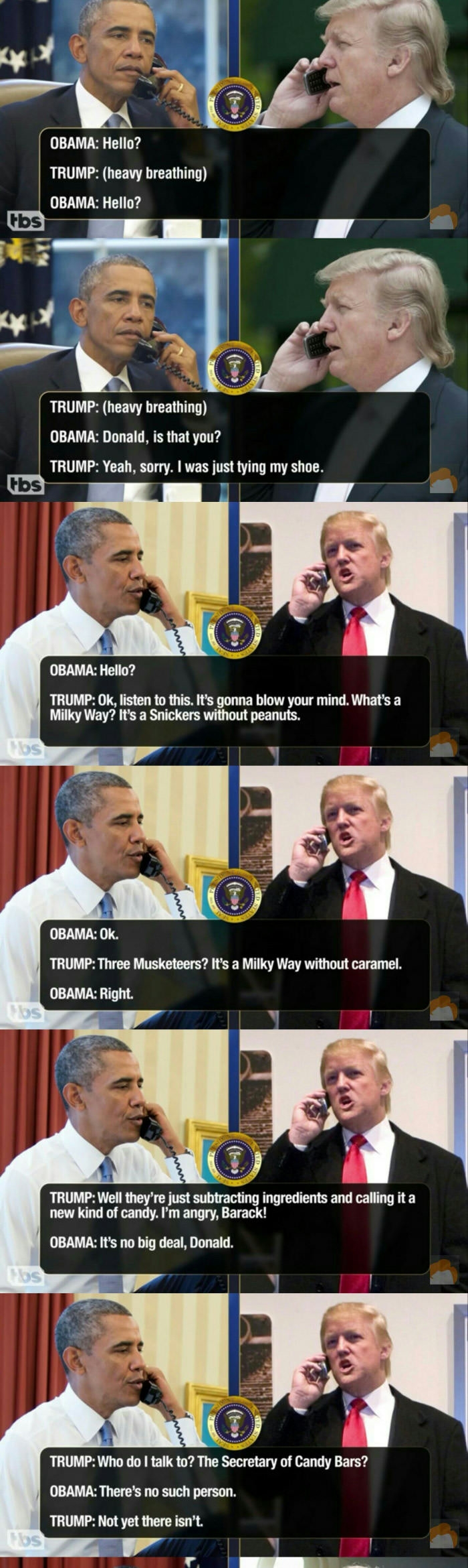 Leaked transcripts of Trump & Obama pt.1