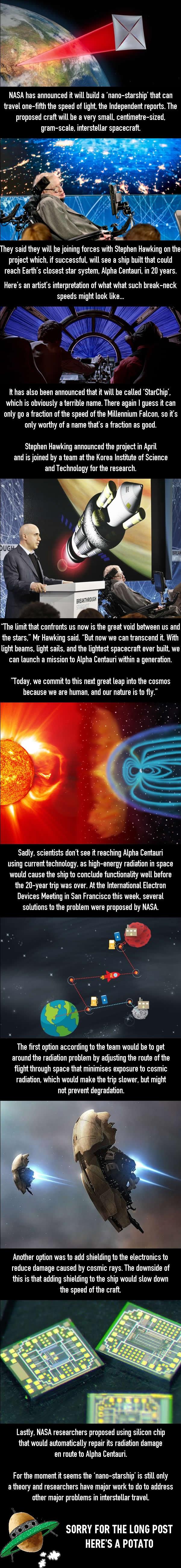 NASA announces new nano-starship