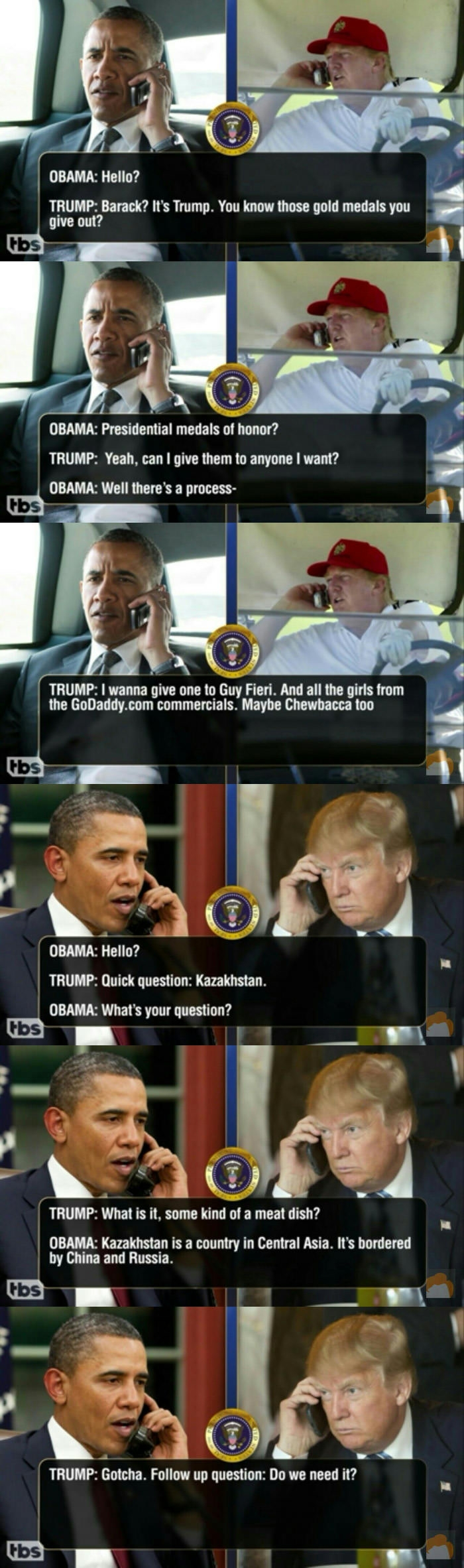 Leaked transcripts of Trump & Obama pt.3