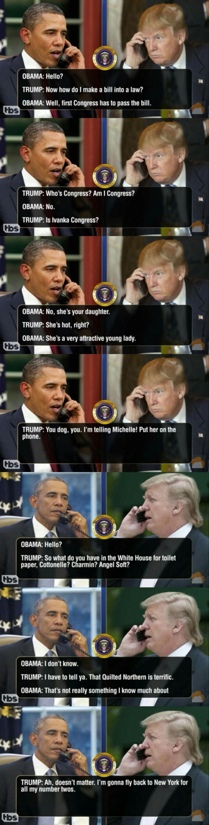 Leaked transcripts of Trump & Obama pt.4