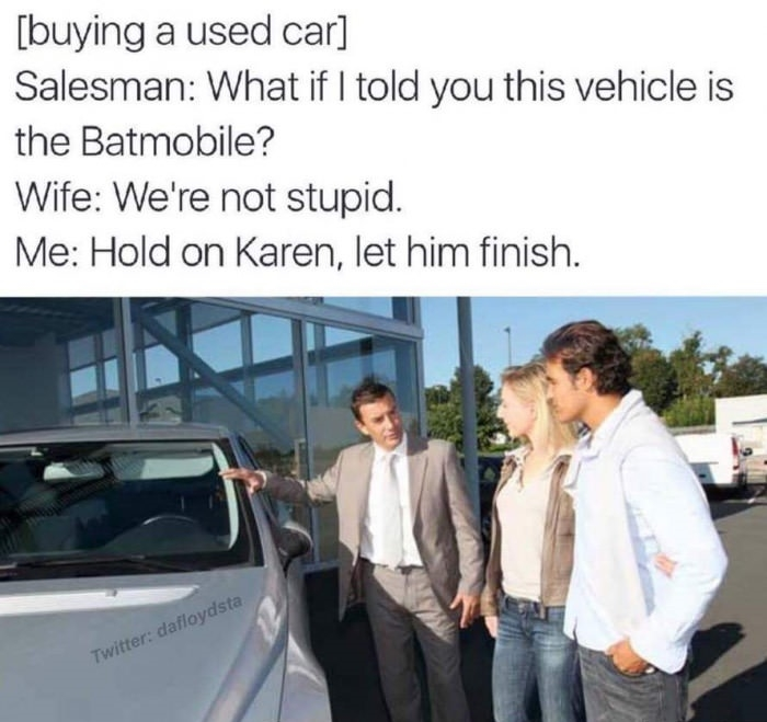 Karen, please..