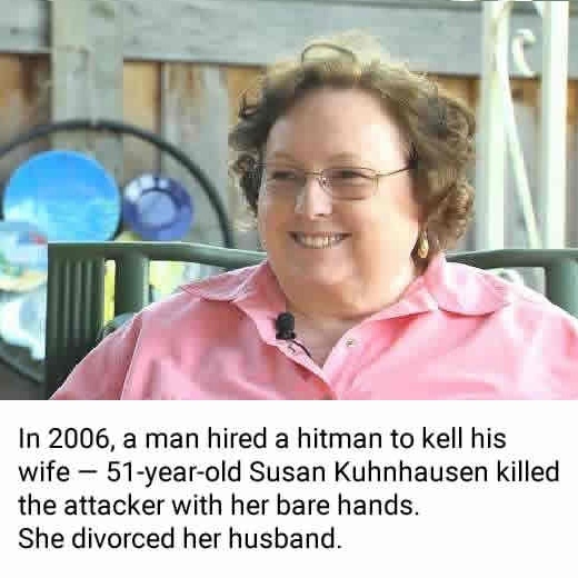 She killed a hitman..