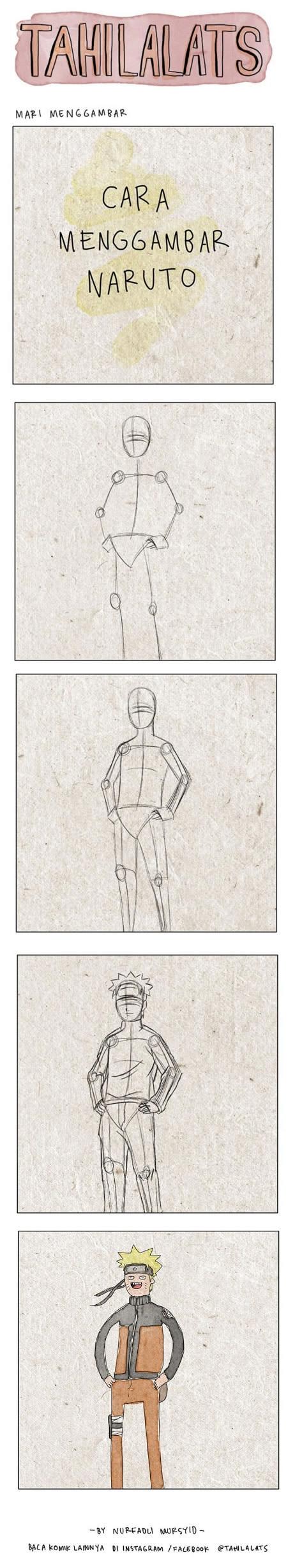 How a professional draws Naruto Uzumaki