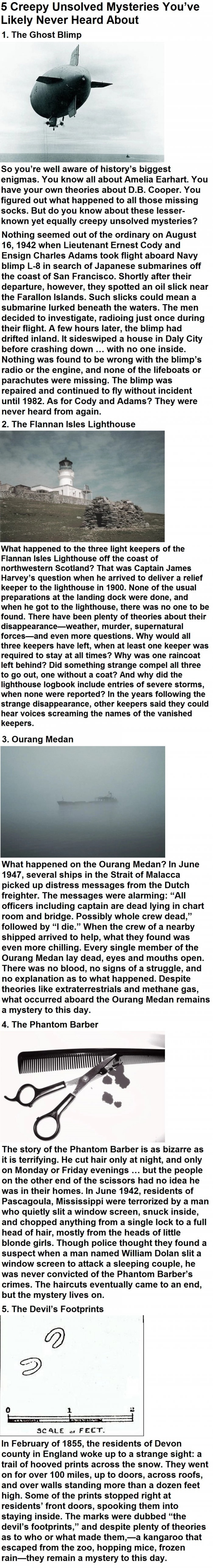 Creepy unsolved mysteries