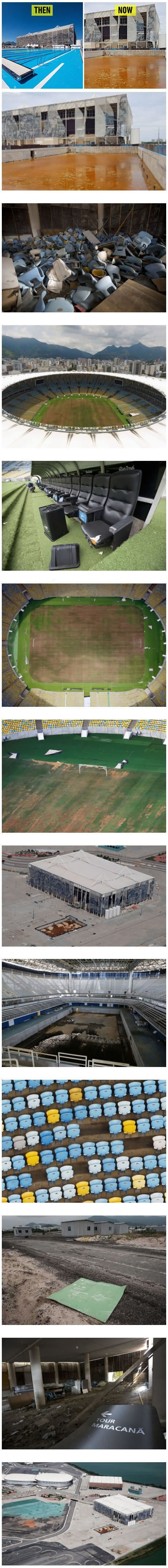 Rio 2016 olympic venues 6 Mmonths after
