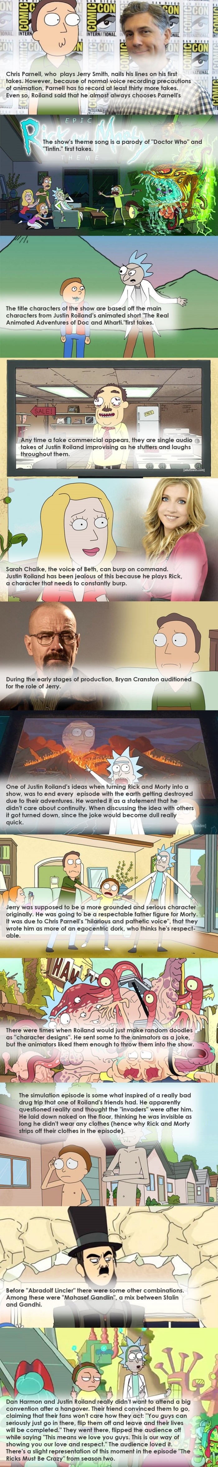 Fun facts about Rick & Morty
