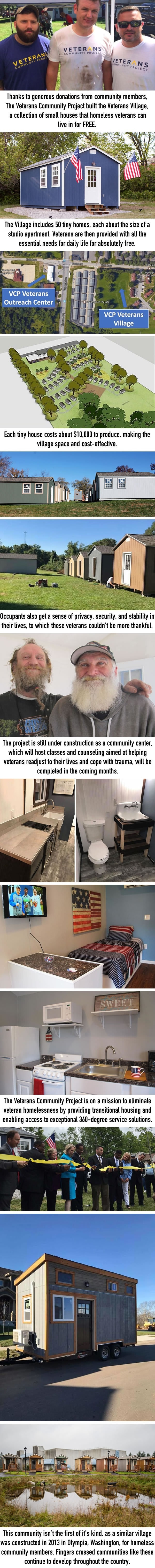 City builds tiny village for homeless veterans