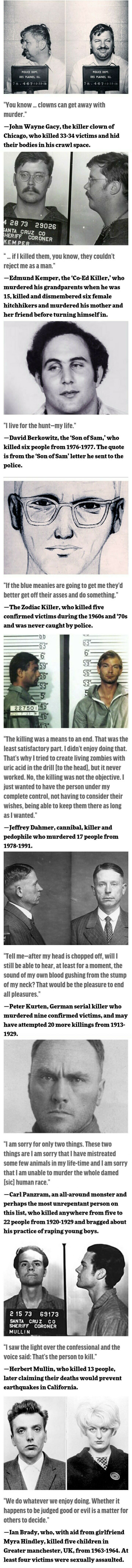 Creepy serial killer quotes