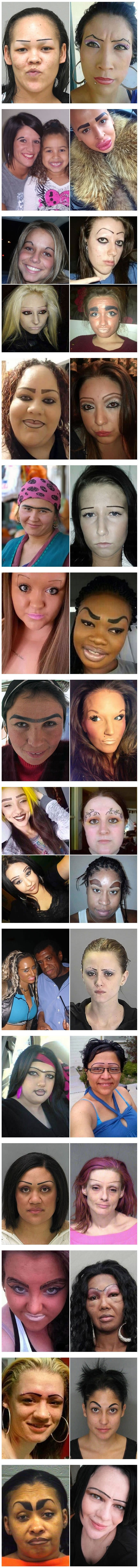 Eyebrows that should've never happened