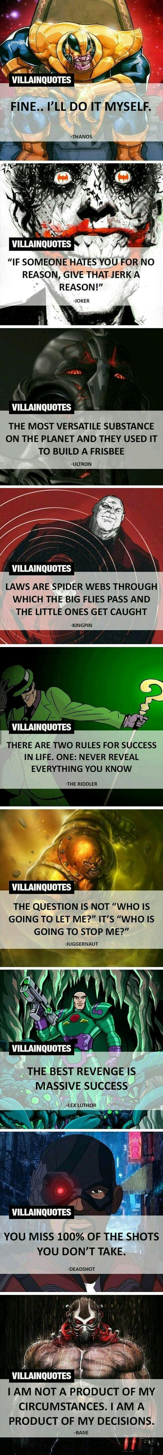 Best supervillian quotes