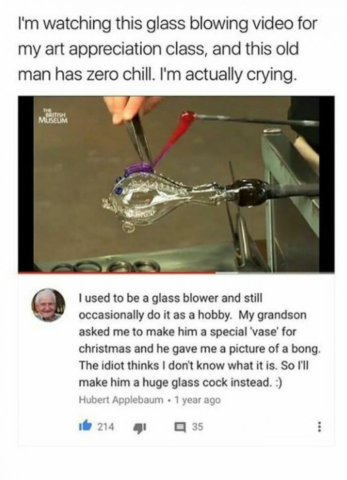 Grandpa got no chill