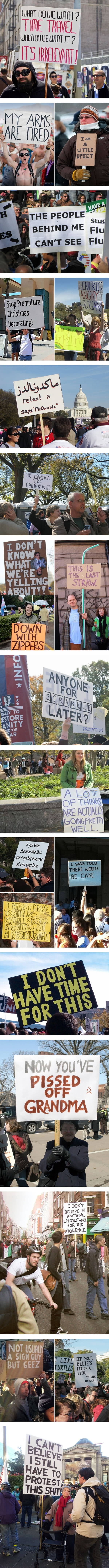 Funniest protest signs