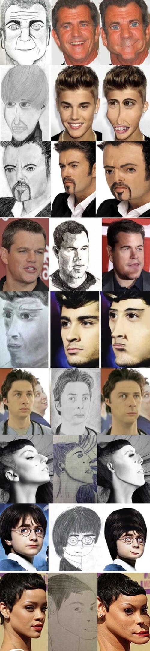Some celeb fan art