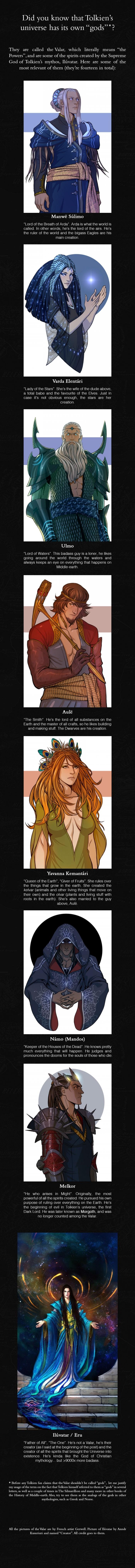 The Valar -  J.R.R. Tolkien's Mythology