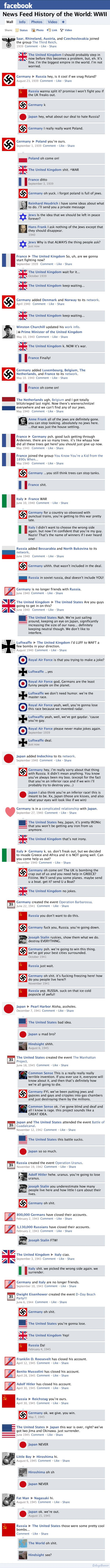 If WW2 was on facebook