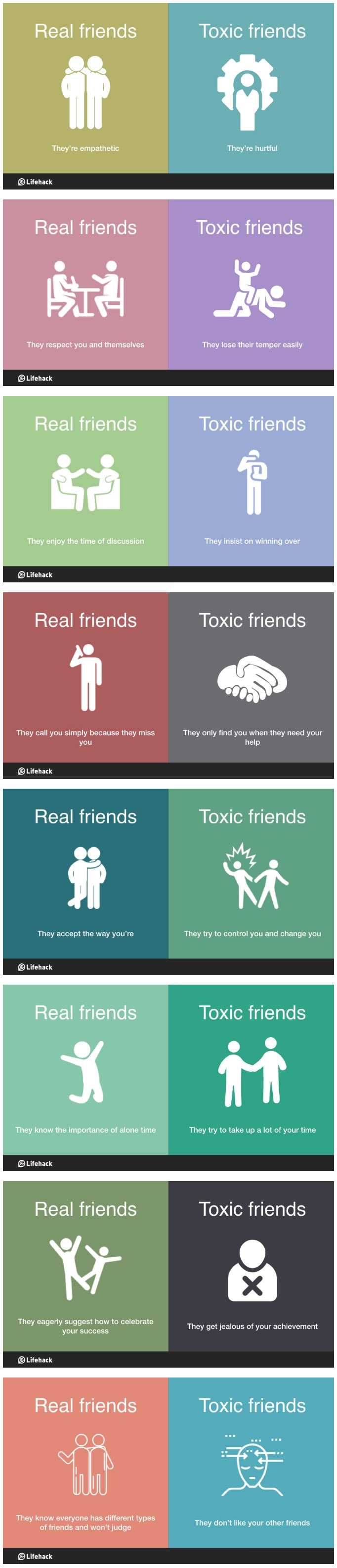 Real friends vs toxic friends