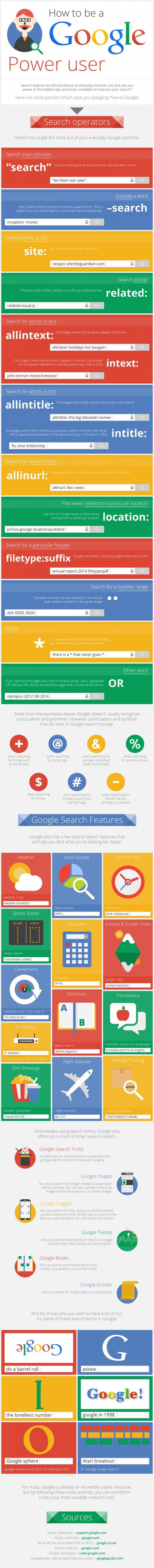 Be a google power user
