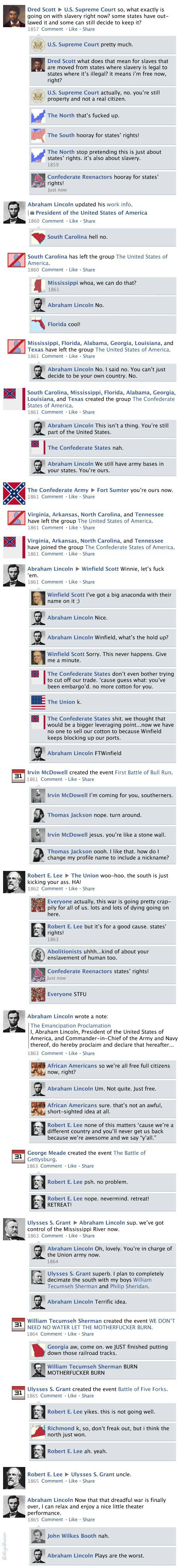 Civil War on Facebook
