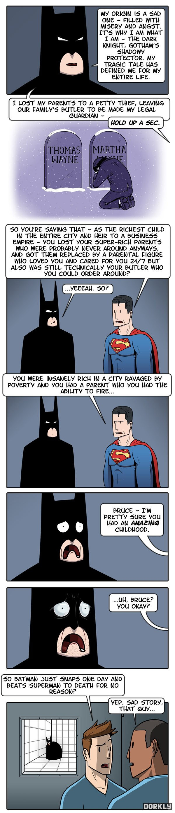 Batman's tragic origins