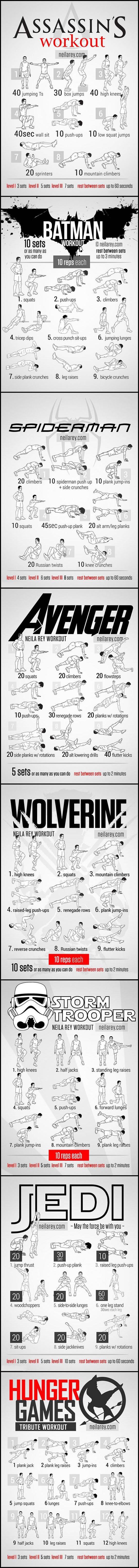 Superhero workouts