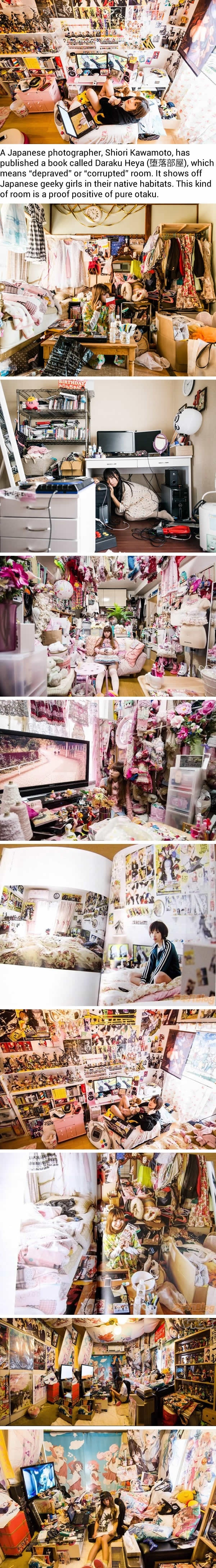 Inside the rooms of Japanese geeky girls