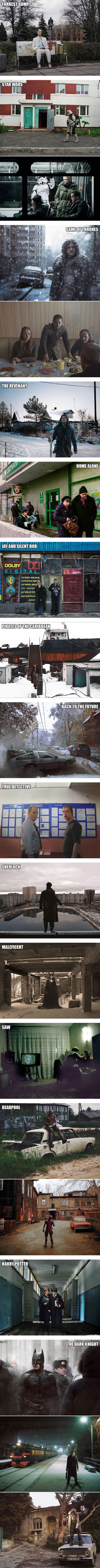 If popular movies & tv shows were made in Russia