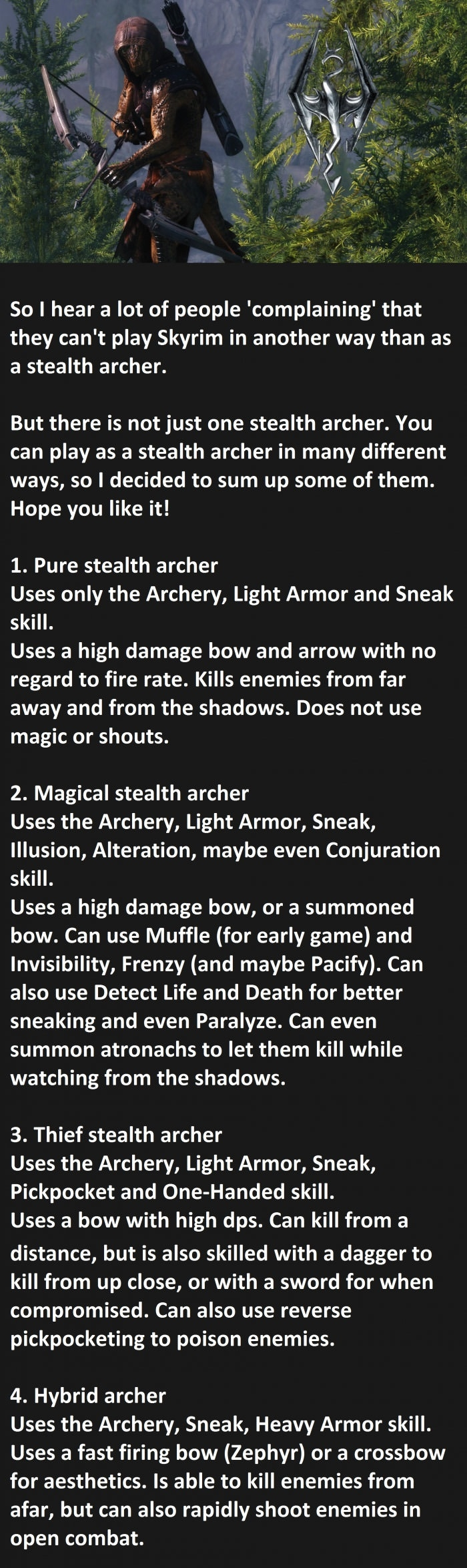 Skyrim stealth archers