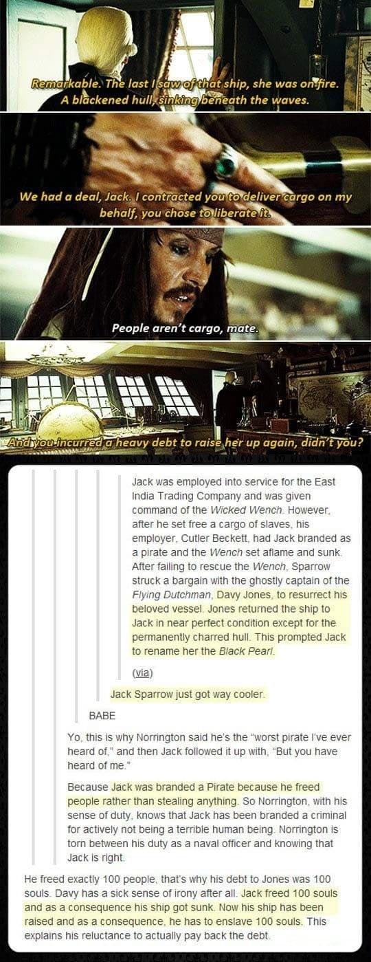 I'll never see Jack Sparrow the same way