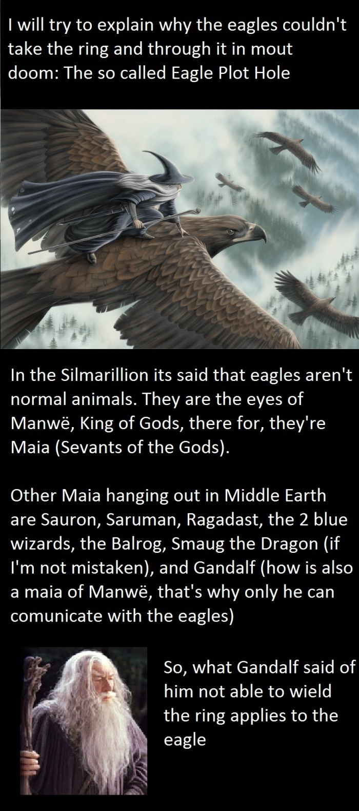 Lotr eagle plot-hole solved