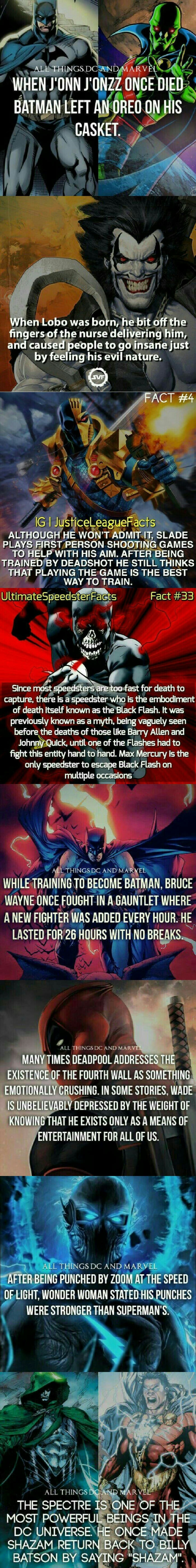 Marvel & DC facts