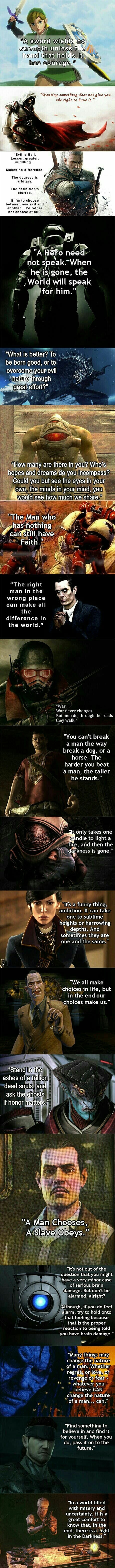 Quotes from video games