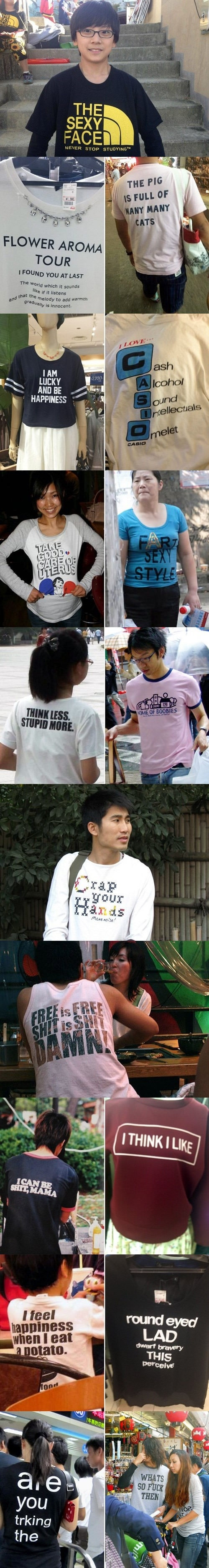 Never trust what is printed on your shirt