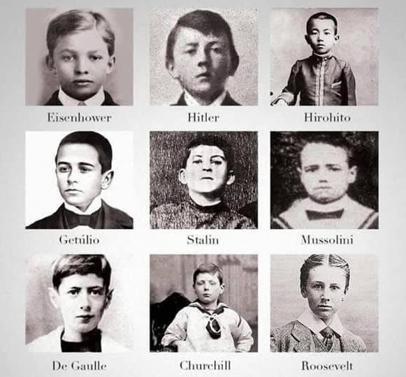 Main figures of WW2 as children