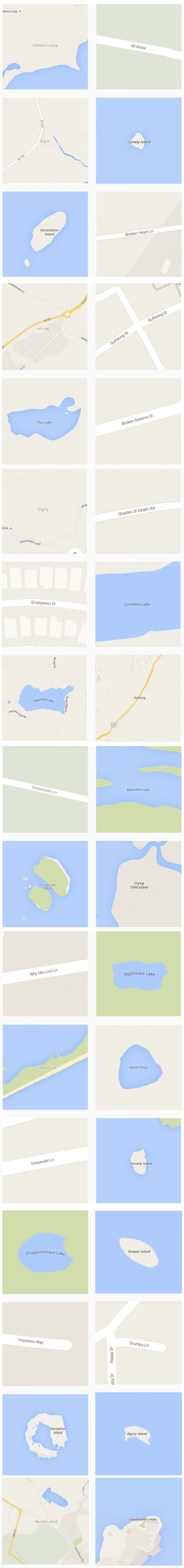 The world's saddest places on Google Maps