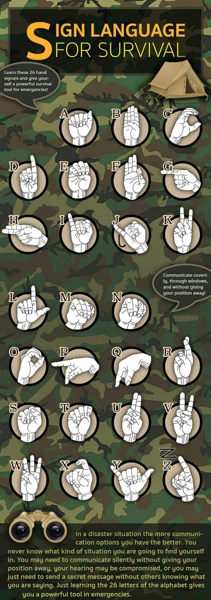 Sign language for survival