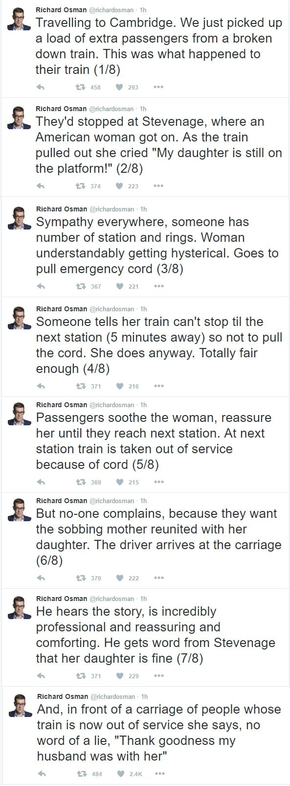 American woman accidentally leaves her daughter on a British train platform